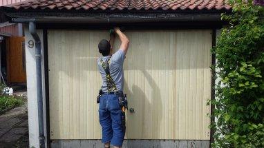 Renovering av garageport