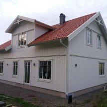 Målning av ny fasad